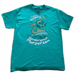 Captain Sashay the Genderqueer Merperson T-shirt