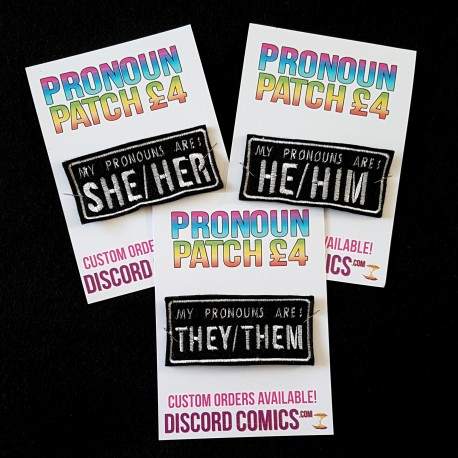 Pronoun Embroidered Patch
