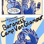 Baroness Camp Von Glamour the Lesbian Harpy