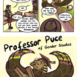 Professor Puce the Agender Sphinx