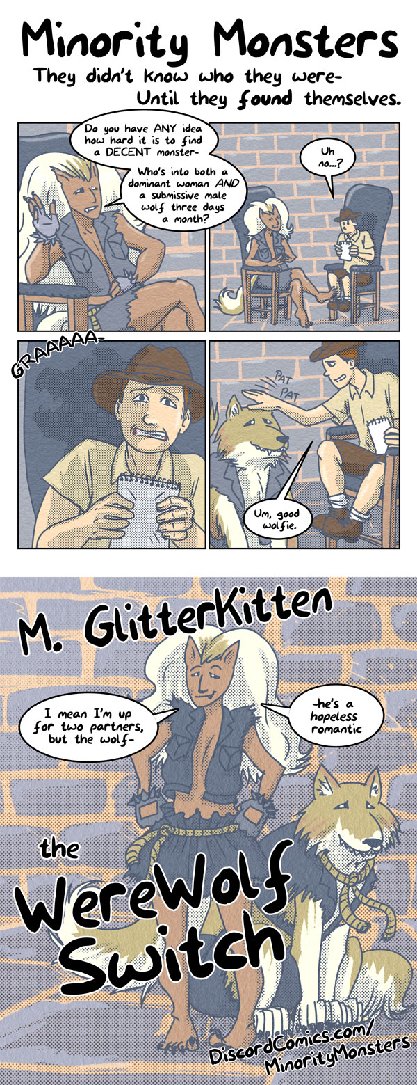 16-M-GlitterKitten the WereWolf Switch