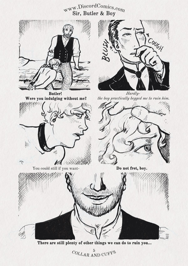 Sir, Butler and Boy~ Collar and Cuffs ~ Page 5