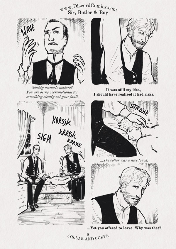 Sir, Butler and Boy ~ Collar and Cuffs ~ Page 8