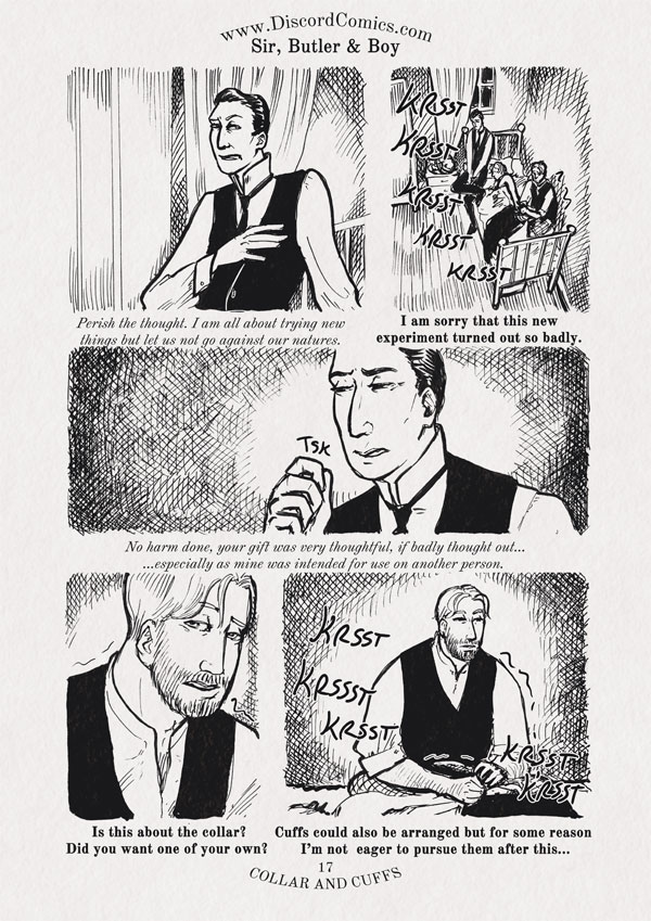 Sir, Butler and Boy ~ Collar and Cuffs ~ Page 17