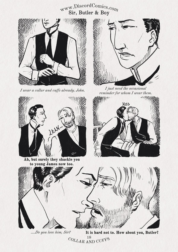 Sir, Butler and Boy ~ Collar and Cuffs ~ Page 18
