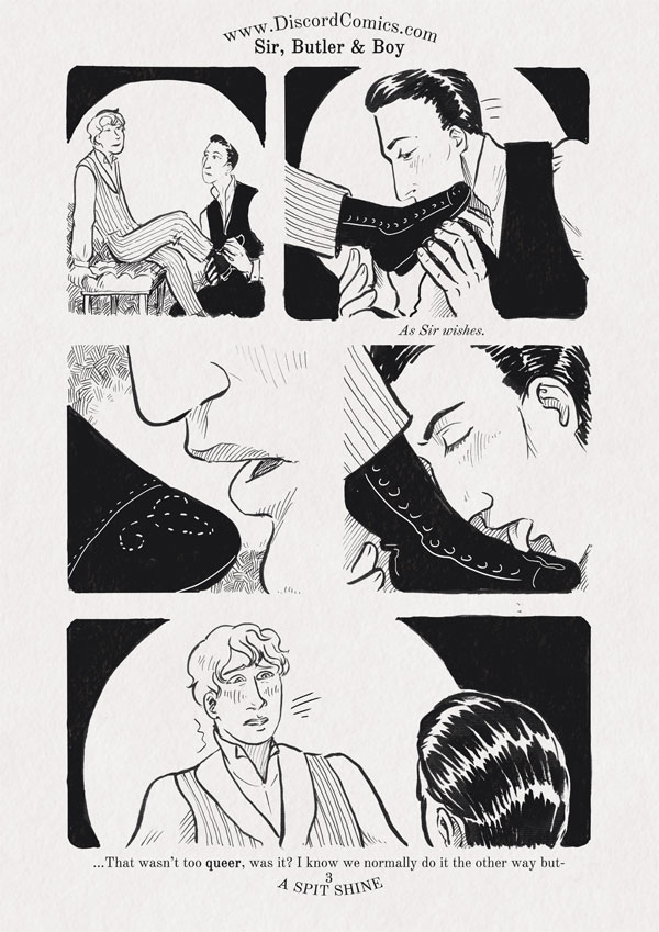 Sir, Butler and Boy ~ A Spit Shine ~ Page 3