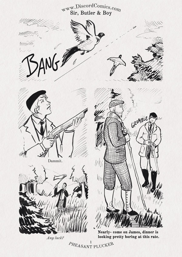 Sir, Butler and Boy ~ Pheasant Plucker ~ Page 1