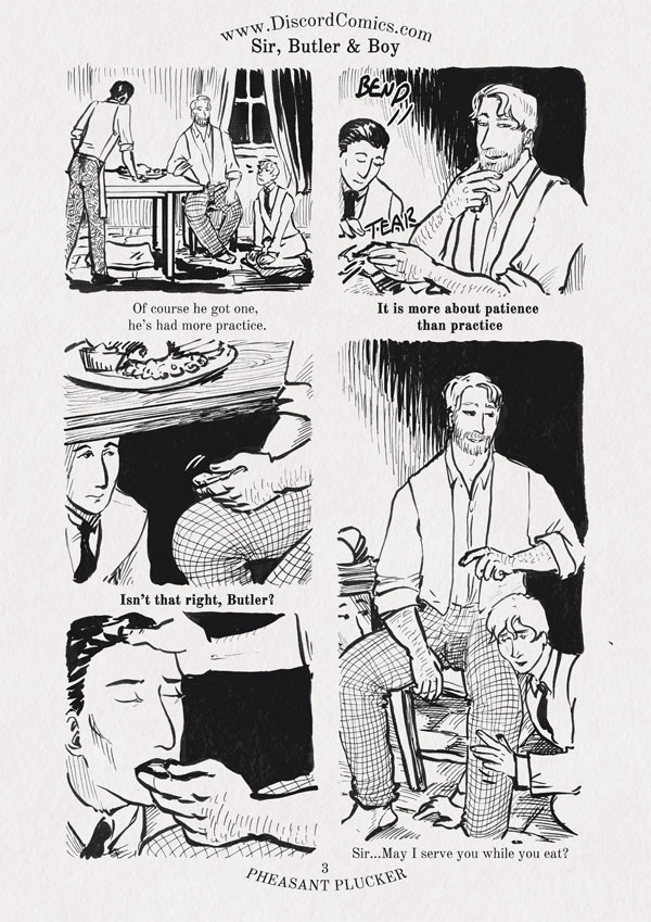 Sir, Butler and Boy ~ Pheasant Plucker ~ Page 3