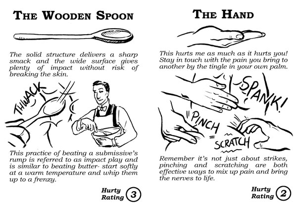 Homemade Hurty Things ~ Wooden Spoon and Hand